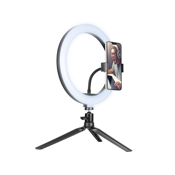 Tracer Led ring lamp 26cm with mini tripod