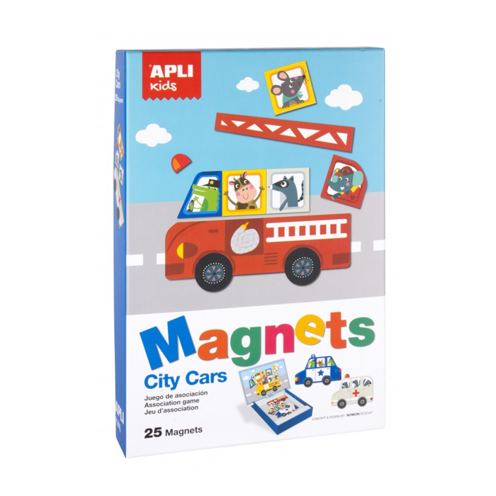 Apli kids Magnets City Cars