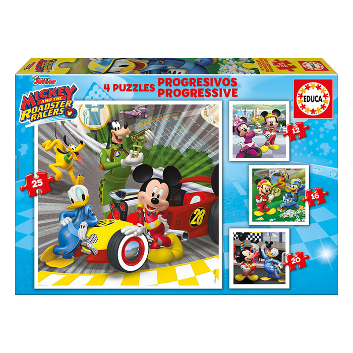 Puzzle Educa Mickey And The Roadster Racers 4 σχέδια