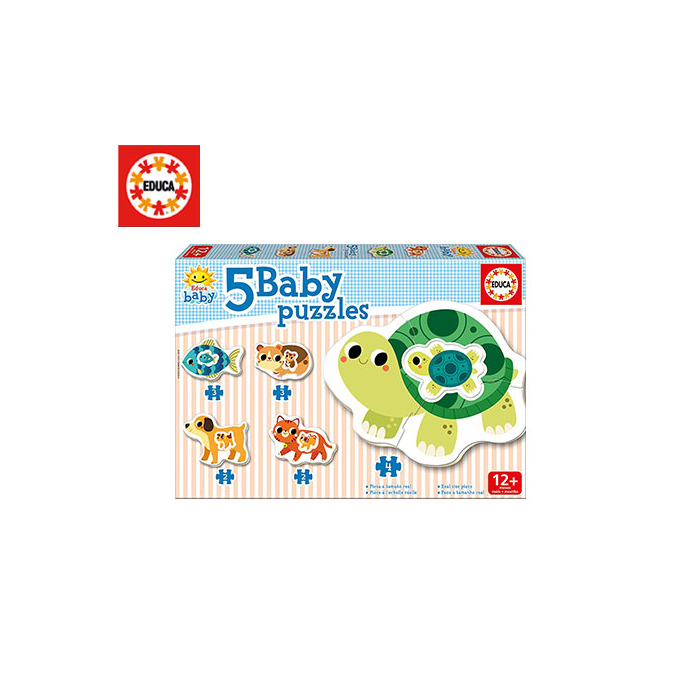 Puzzle Educa Baby animals 5τμχ