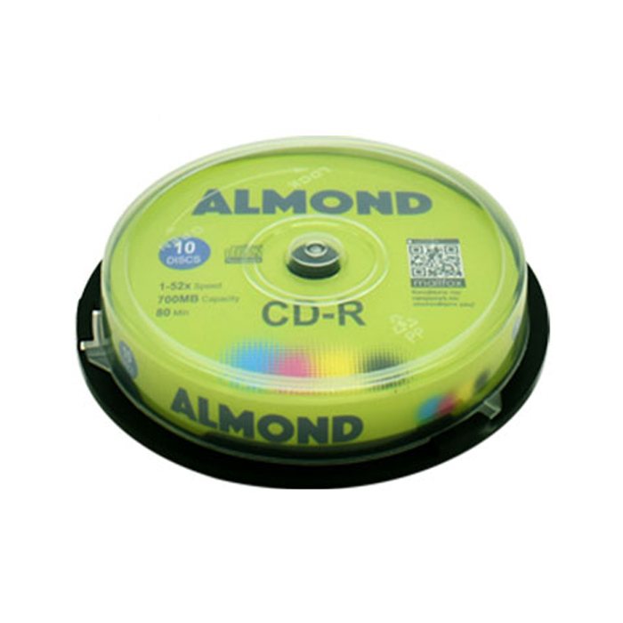 CD-R 700MB 52x Almond Cake Box 10τμχ