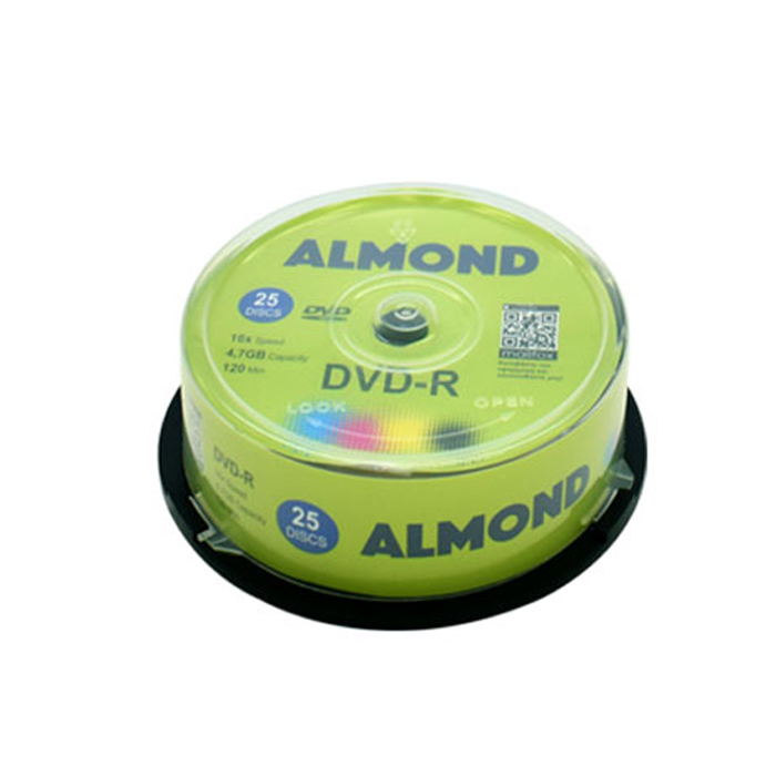 DVD-R 4.7GB 16x Almond Cake Box 25τμχ