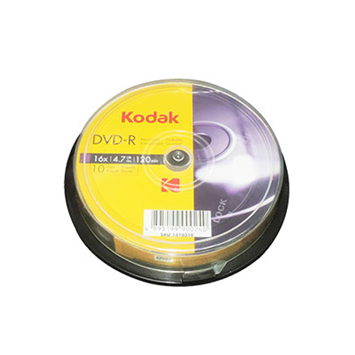 DVD-R 4.7GB 16x Kodak Cake Box 10τμχ